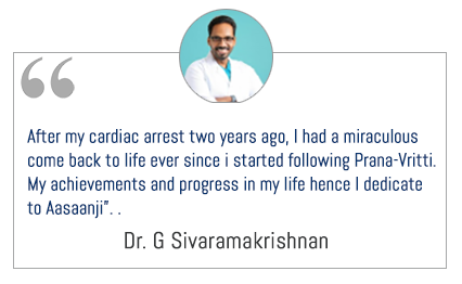 Prana-Vritti on 29th APRIL 2018 @ Chennai